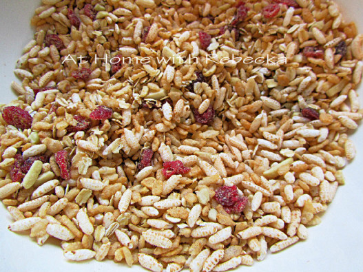 Puffed Rice, Crisp Rice Cereal, Whole Oats, Flaxseed Meal