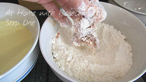 Step #1 dust with plain flour