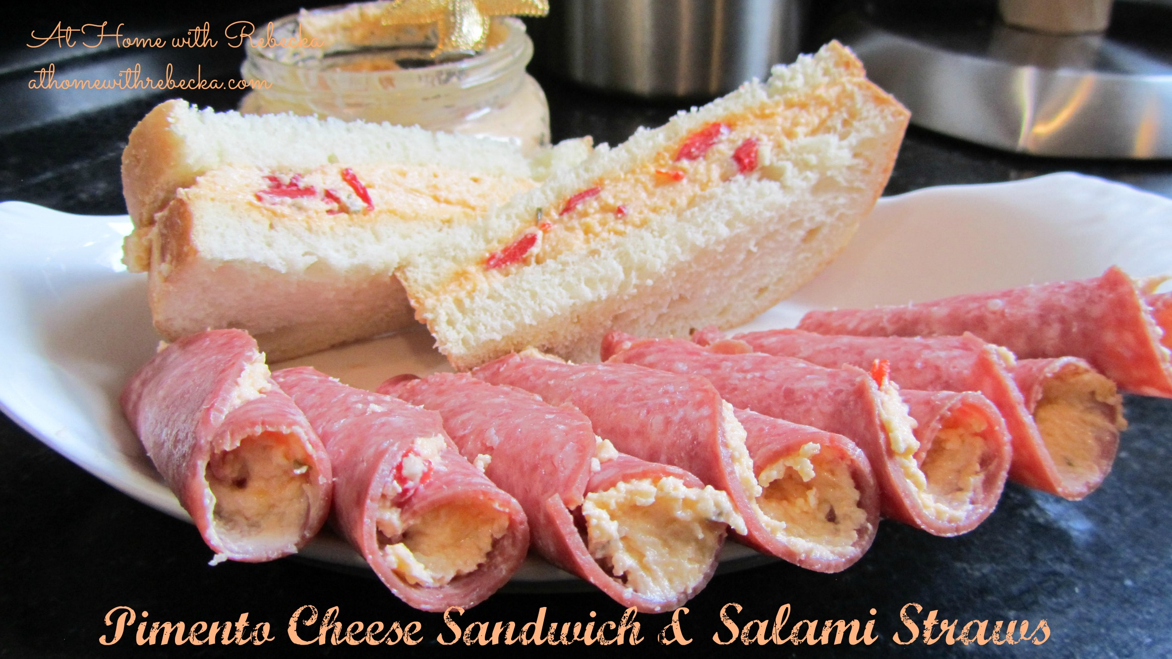 Pimento Cheese and Salami Straws