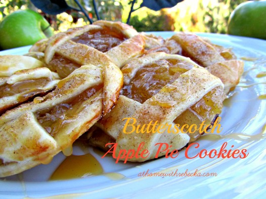 apple pie cookies with butterscotch