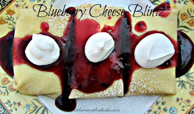 Blueberry Cheese Blintzes