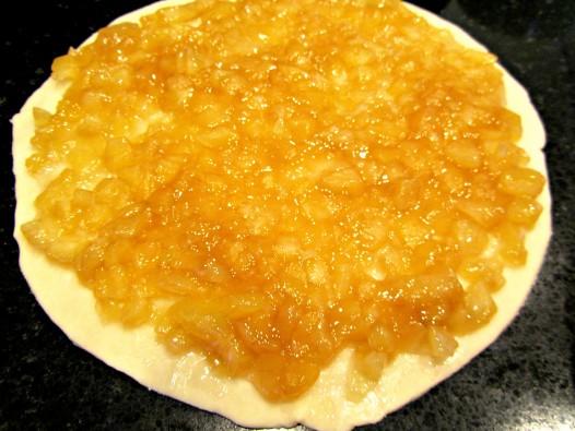 making butterscotch apple pie cookies