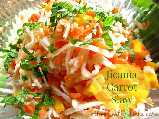 jicama carrot and mango slaw salad