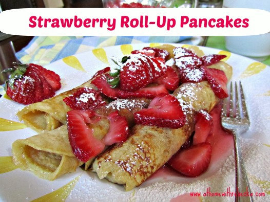Strawberry Roll-up Pancakes