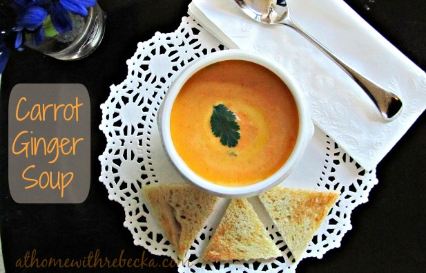 Carrot ginger soup is a wonderful spring soup, made with sweet baby carrots and fresh ginger. Its bright color and taste make this fresh vegetable soup the perfect start to any meal.