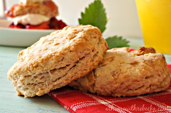 Sweet Strawberry Shortcake Biscuits