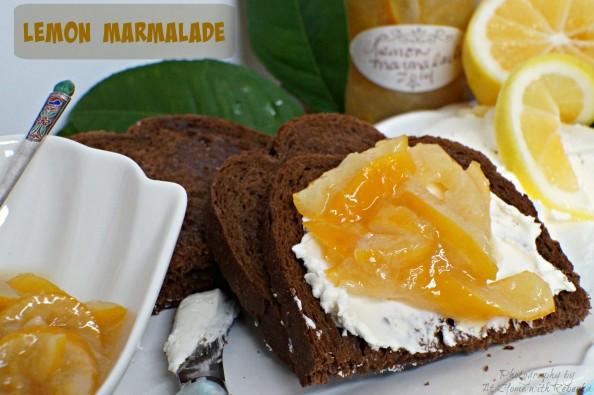 Dark Rye with Lemon Marmalade and Cream Cheese
