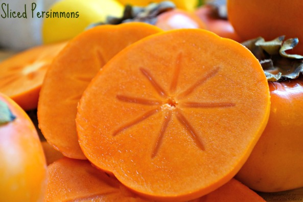 Sliced Persimmons