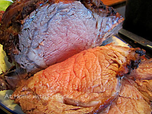 Garlic Infused Prime Rib Roast with Red Wine Gravy-Keeping up Holiday Traditions