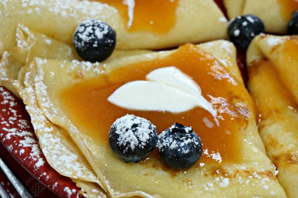 crepes with persimmon butter