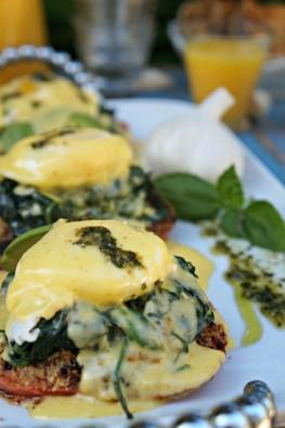 Gilroy Garlic Festival Eggs Benedict