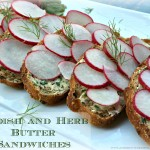 Radish and Herb Butter Sandwiches
