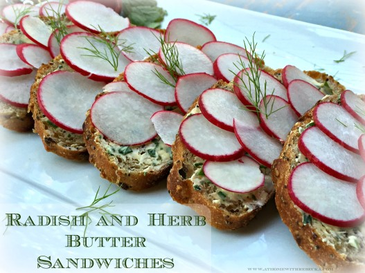 Radish Sandwiches with Herb Butter