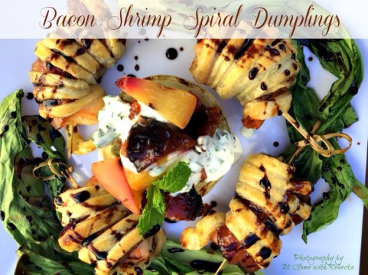 Bacon Shrimp Spiral Dumplings