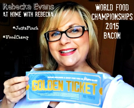 I've Won A Second Golden Ticket to The World Food Championships #JustaPinch