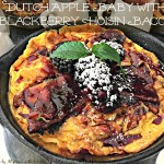 Dutch Apple Baby with Blackberry Hoisin Bacon