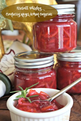 FIREBALL Cranberry Meyer Lemon Conserve...the perfect cranberry side dish, just in time for your holiday feast.