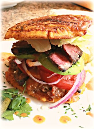 Jibarito Flatiron Steak Sandwich