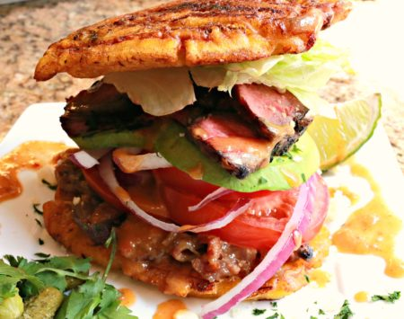 Jibarito Flatiron Steak with Spicy Sauce