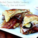 Savory Waffle Grilled Cheese with Fig Jam