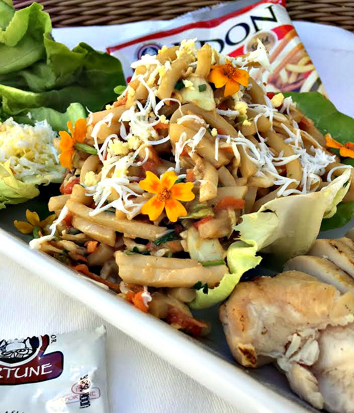 Udon lettuce cups are a light, healthy lunch or dinner.When you're hungry for restaurant quality flavors but too tired to go out for dinner, make this quick and delicious meal in less than 30 minutes.
