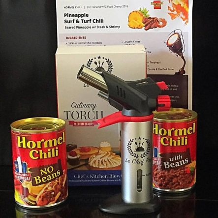 "Hormel Chili and a ""BroTorch"""
