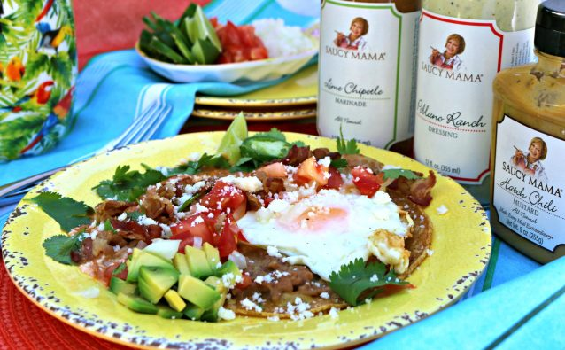 Saucy Mama inspired Huevous Rancheros, an award winning Mexican breakfast recipe from Rebecka Evans