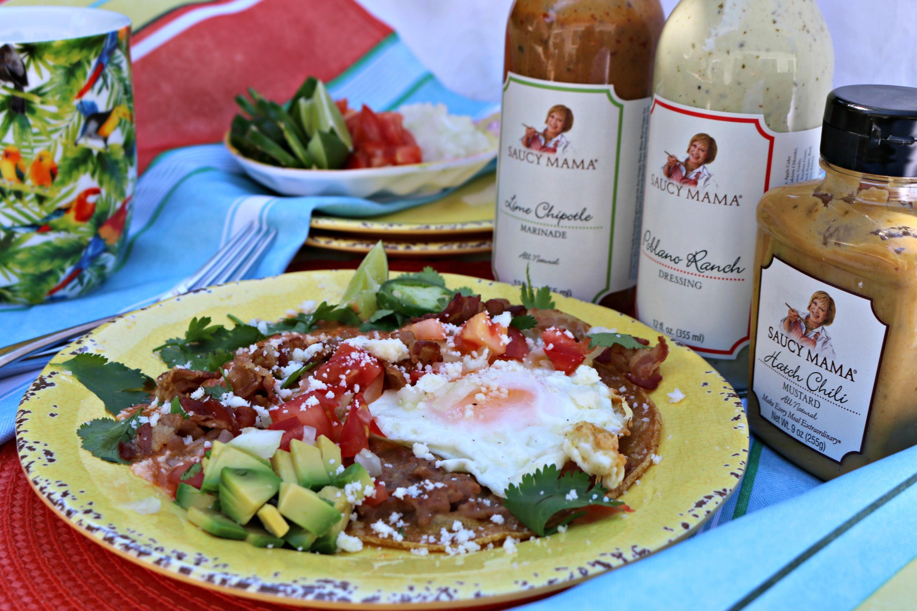 Saucy Mama inspired Huevos Rancheros