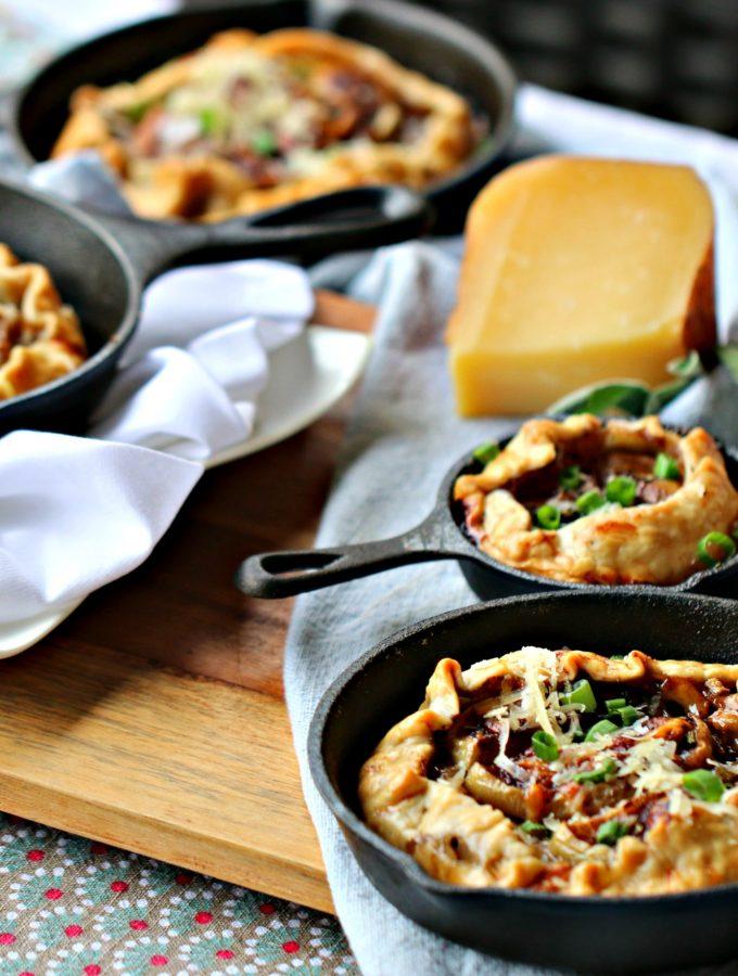 Mahon-Menorca Cheese, Butternut Squash and Apple Galette