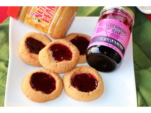 Peanut Butter Jelly Thumbprint Cookie