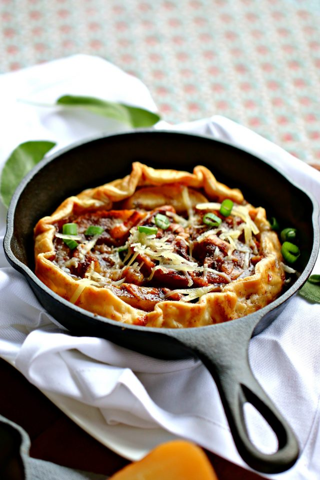 Cheesy Butternut Squash And Apple Galettes