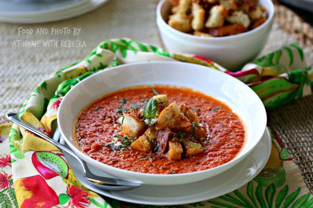 Bacon Sriracha Tomato Soup