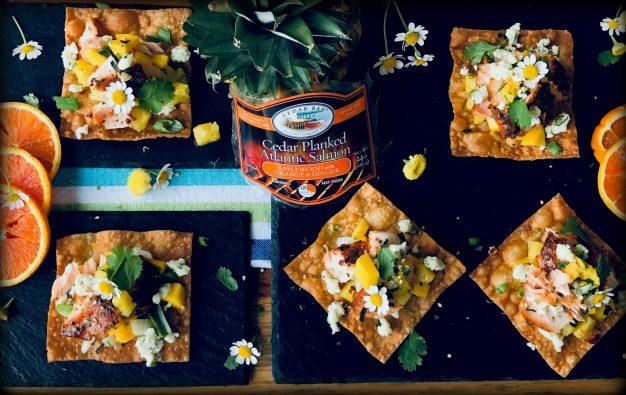 Orange Ginger Salmon Nachos