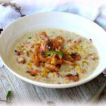Grilled Salmon Jalapeno and Corn Chowder