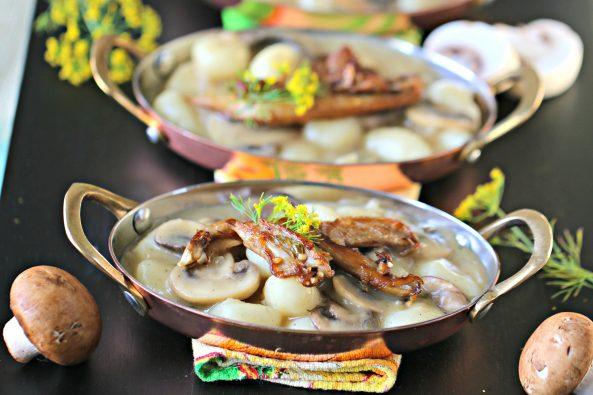 Prosecco Mushroom GnocchiRicotta