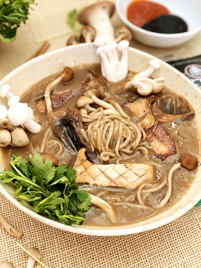 Mushroom Soba Buckwheat Ramen