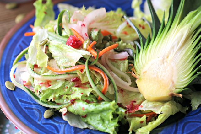 Romaine Salad with Cranberry Vinaigrette