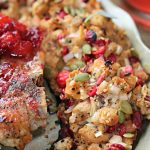 Cranberry Everything Bagel Stuffing