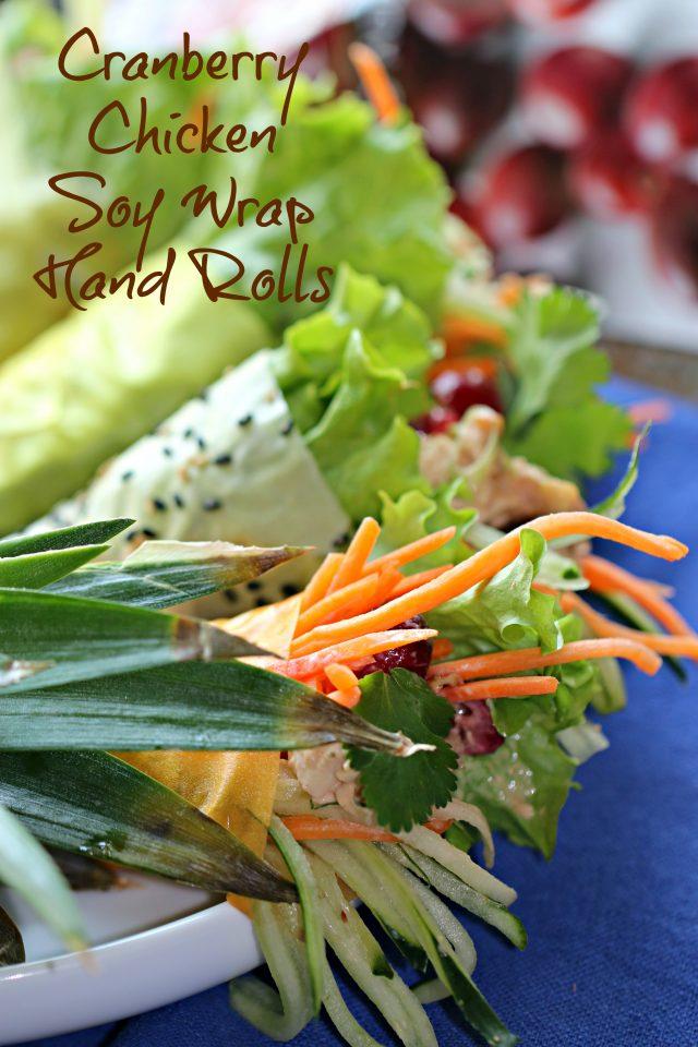 Cranberry Chicken Salad Handrolls