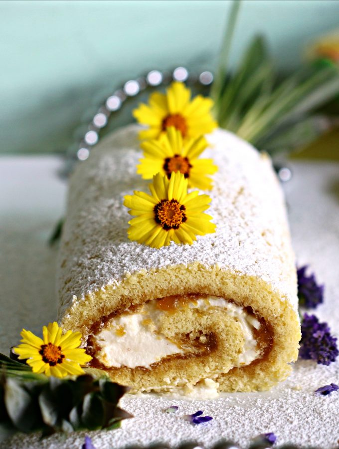 "The ""Upside-Down"" Filled Jelly Roll Cake"