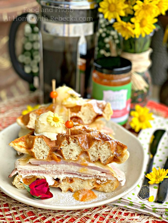 Wakamatsu's Peachy Good Waffle Sandwich