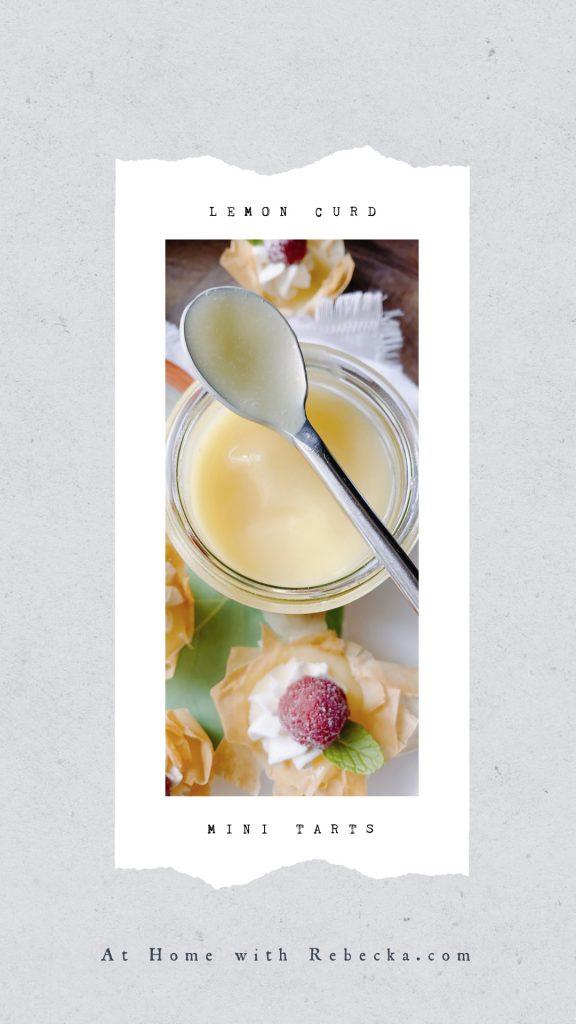 Meyer Lemon Curd Mini Tarts