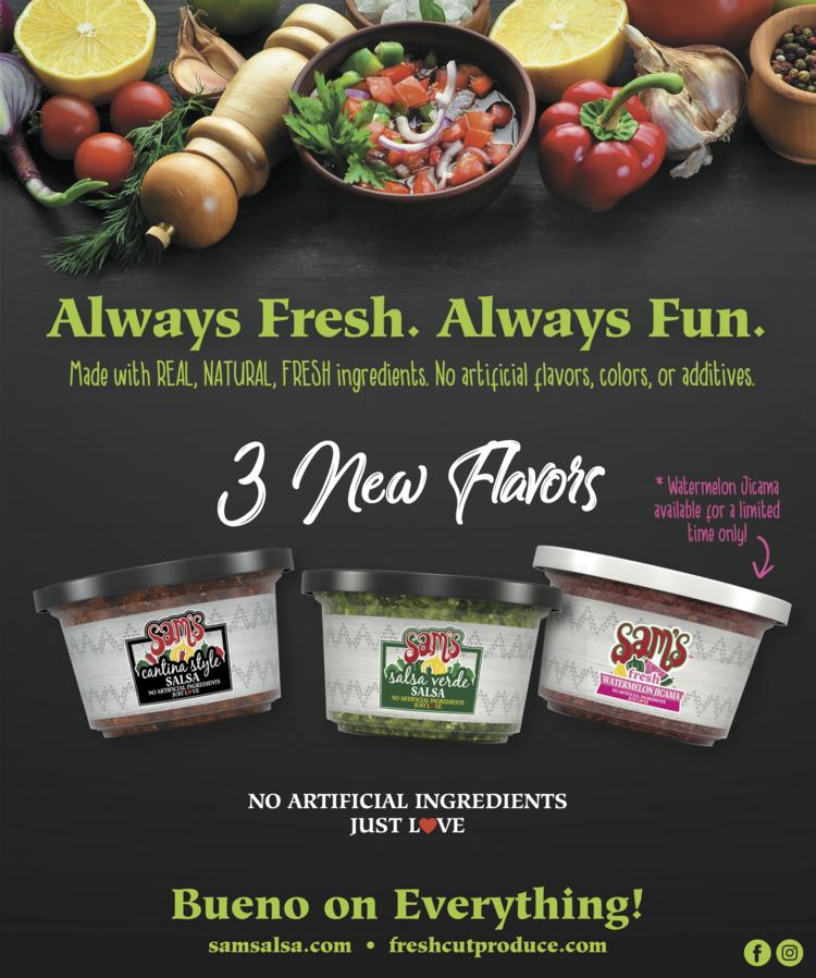 Sam's Fresh Salsa Logo/Ad