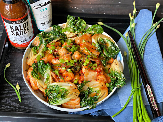 Gochujang Rice Cake Kimchi Stir Fry